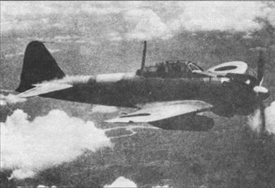 Самолет с бортовым номером «3-182» из 12-го кокутай. полоса вокруг фюзеляжи – желтого цвети. Самолет видимо окрашен в два оттенки серого цвета.