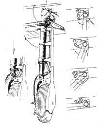 стойка основного шасси A6M