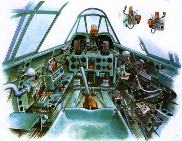 Кабина пилота истребителя A6M3 Модель 22