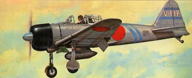 A6M2 Model 22 пилотирует командир Тайнин Кокутая, остров Ява, весна 1942 г.
