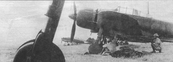 A6M3 модель 22, Рабаул, середине 1943 г. Самолет очень необычен: по носовой части фюзеляжа – однозначно «модель 22», но крыло – от A6M5 модель 52! Не известно, что это такое – полевая модификация или заводской гибрид.