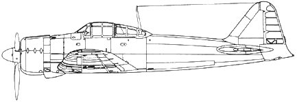 A6M2 Model 21 Самолетс пушками Тип 99 модель 2 Mk 3. Пушки с барабанным магазином на 100 снарядов.