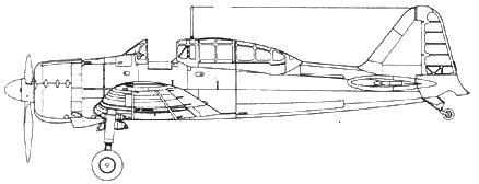 A6M2-К Model 11 двухместный учебный самолет