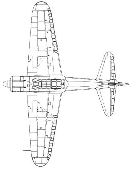 A6M2 Model 21 ранней серии, гак удлинен