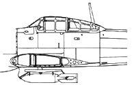 пилон фирмы Мицубиси для 250-кг бомбы