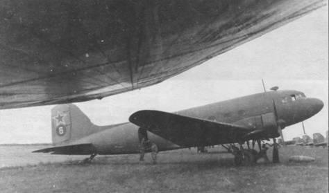 Ли-2Т на аэродроме в Мукдене (Маньчжурия), август 1945г.