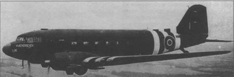 «Дакота» III из 233-й английской эскадрильи доставляет раненых из Нормандии, 1 августа 1944г.