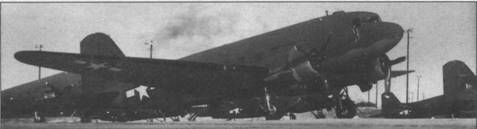 Группа С-47 ВВС армии США на аэродроме, 1944г.