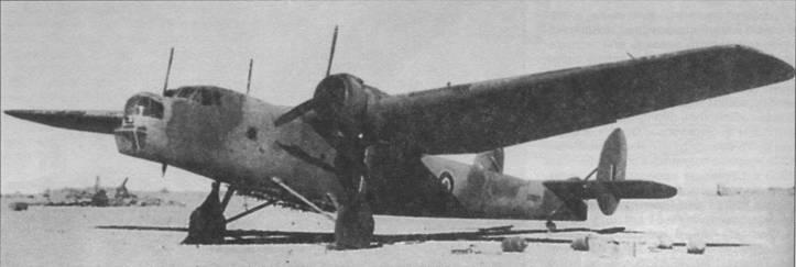 «Бомбей» I из 216-й эскадрильи в Северной Африке, аэродром Эль-Ханка, начало 1942г. Под фюзеляжем машины смонтированы бомбодержатели