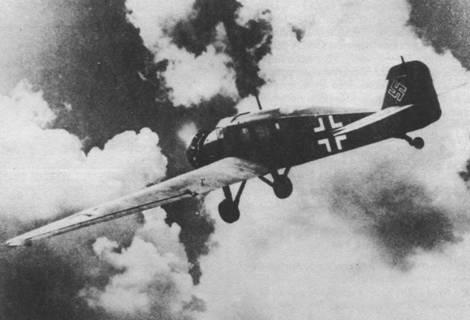 Юнкерс W 34he Люфтваффе в полете