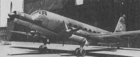 Опытный образец пассажирского самолета Ju 252V1, 1942г.