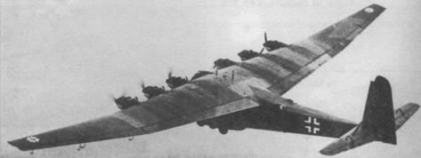 Шестимоторный Me 323В-1 в полете