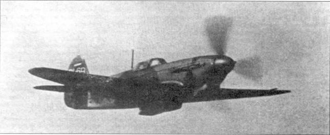Трудно определить к какой модификации «девятки» принадлежит эта машина. Вероятно это Як-9Т, в пользу чего свидетельствует ствол пушки, выступающий из кока винта.