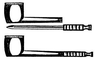 Курительная трубка с ножом в чубуке