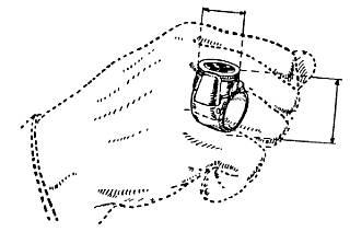 Оружие на пальце. 5-зарядный револьвер-перстень. Корпус — бронза, серебро. Франция. Бельгия. 1870г.