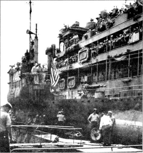 Левый борт надстройки лодки