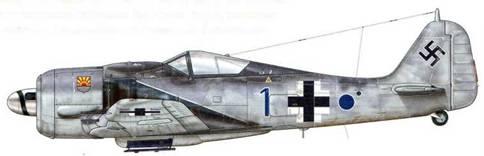 Fw 190А-8 из 9./JG 5, Хердия, Норвегия, январь 1945 г. Пилот – Leutnant Август Шнайдер, Staffelkapitan этого подразделения.