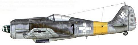 Fw 190А-8 из l./JG 11, Ротенбург, Германия, май 1944 г. Пилот – Oberleutnant Йозеф «Юпп» Цвернеманн – Staffelkapitan – один из асов на германском Восточном фронте. Он закончил войну с 116 подтвержденными победами в воздушных боях и 10 возможными.