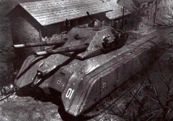 Компьютерное изображение другого варианта сверхтяжелого танка «Крыса»