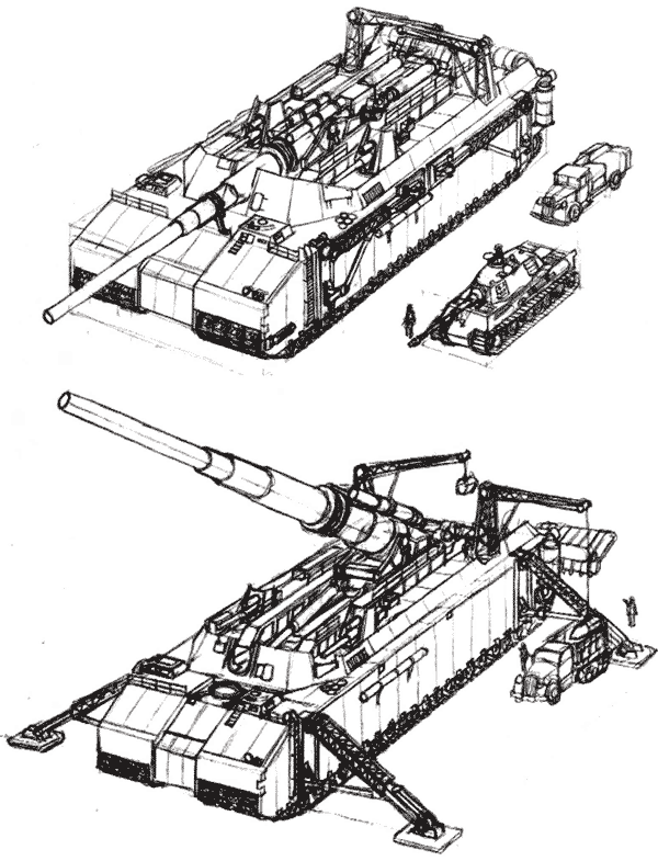 Проект 1500-тонного танка фирмы Krupp