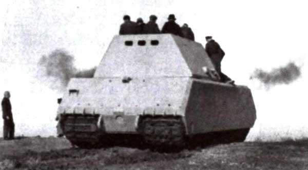 «Маус I» во время испытаний на полигоне в Бёблингене в январе — феврале 1944 года