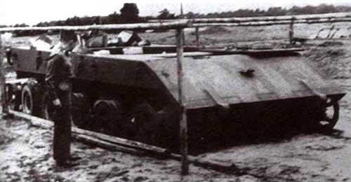 Шасси танка Е-100, захваченное союзниками в Зеннелагере. 1945 год
