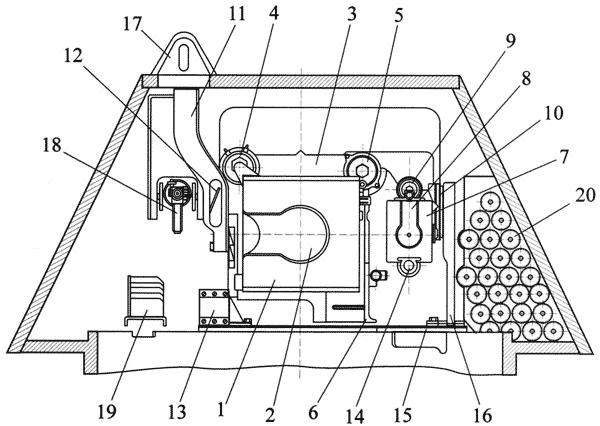 Схема установки вооружения (вид сзади):