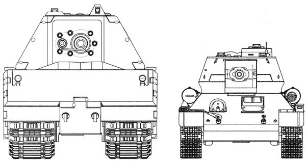 Сравнительные размеры танков Maus и Т-34-85