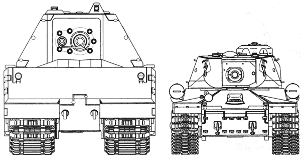 Сравнительные размеры танков Maus и ИС-2