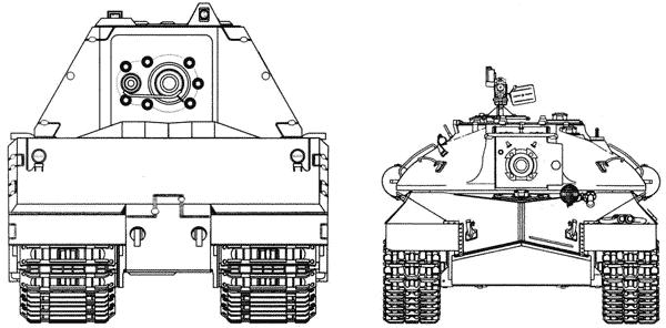 Сравнительные размеры танков Maus и ИС-3