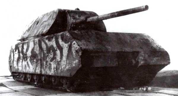 Трофейный танк «Маус» на НИБТПолигоне в Кубинке. 1946 год