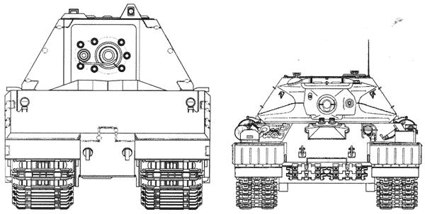 Сравнительные размеры танков Maus и ИС-4