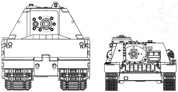 Сравнительные размеры танка Maus и самоходного орудия СУ-100