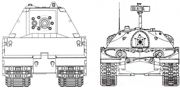 Сравнительные размеры танков Maus и ИС-7