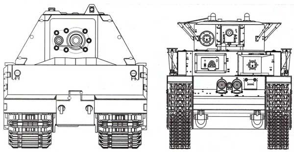 Сравнительные размеры танков «Маус» и Т-35