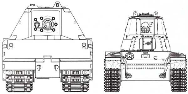 Сравнительные размеры танков Maus и СМК