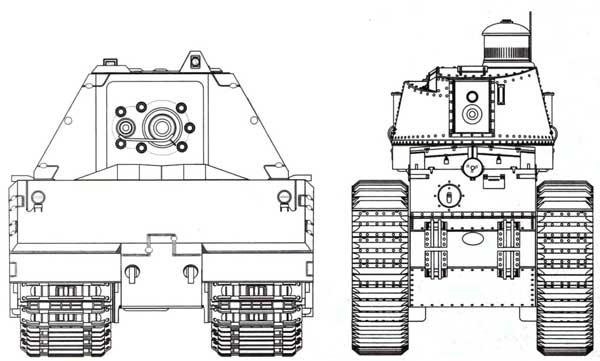 Сравнительные размеры танков Maus и FCM