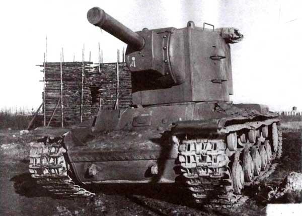 Советское чудо-оружие 1941 года — тяжелый КВ-2, вооруженный 152-мм гаубицей