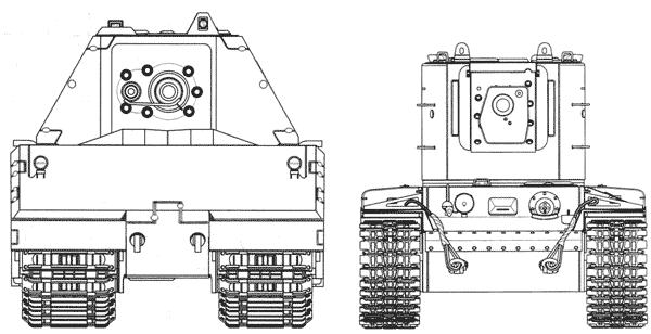 Сравнительные размеры танков Maus и КВ-2
