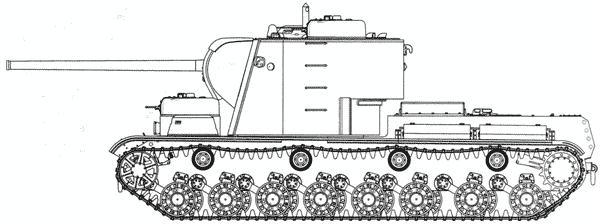 Тяжелый танк КВ-5.Чертеж выполнил В.Мальгинов