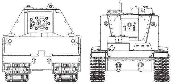 Сравнительные размеры танков Maus и КВ-5