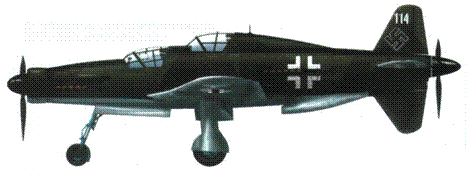 Do 335A-12 (W.Nr. 240114, RP+UD), камуфляж RLM 81/82/неокрашенный дюраль.