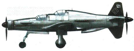 Do 335А-12 (W.Nr. 240121). Самолет не доделан и не окрашен. Опознавательный знак — свастика на киле.
