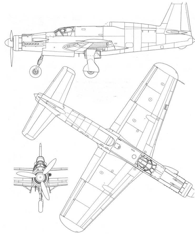 Do 535A, дневной истребитель со смешанной двигательной установкой. Вид сбоку, сверху, спереди. Проект, реконструкция (проект Р.232/3-06).