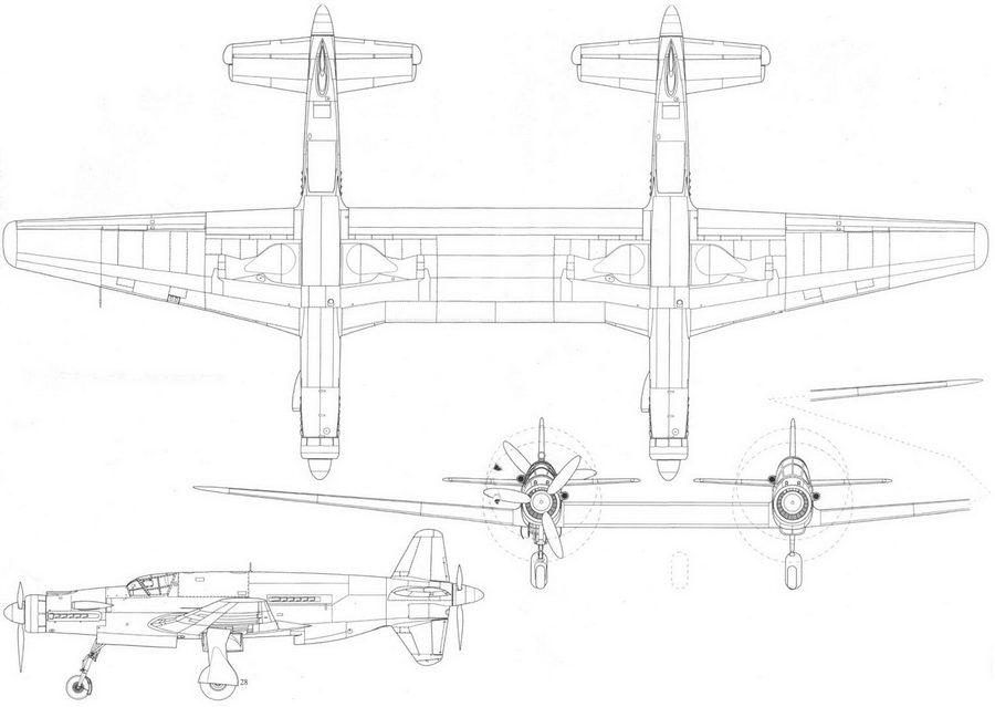 Doriner Do 335Z, проект, реконструкция.