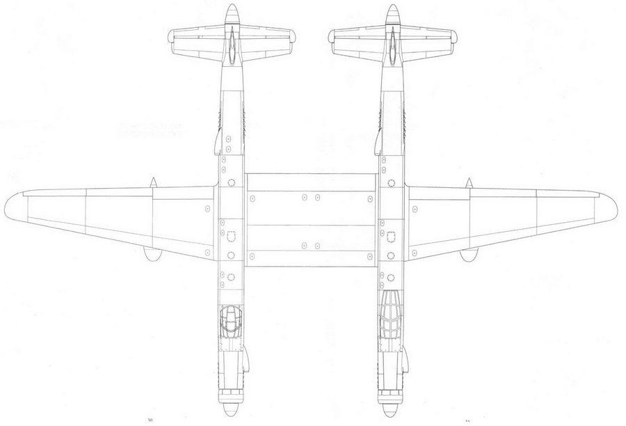 Junkers Ju 635, проект, реконструкция, вид сверху.