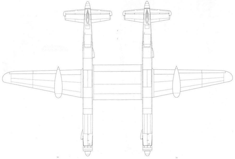 Junkers Ju 635, проект, реконструкция, вид снизу.
