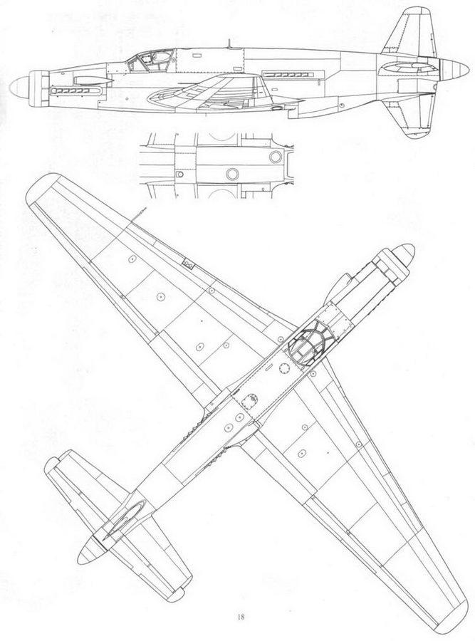 Do 335B-4, вид сбоку и снизу. Проект, реконструкция.