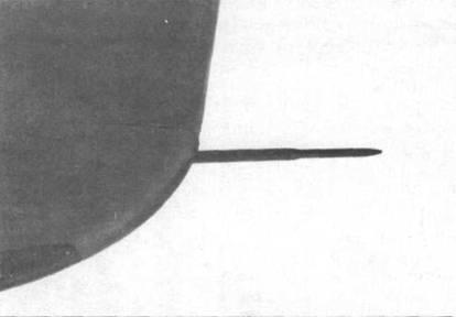 Трубка Пито в оконцовке левого крыла Do 335А-02.