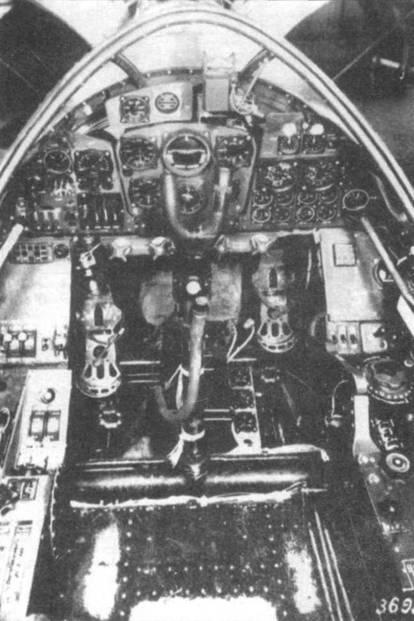 Интерьер кабины Do 335А-02. Опиично видна приборная доска.